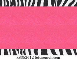 Glitter Pink Zebra Paper