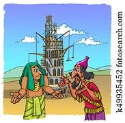 The builders of the Tower of Babel