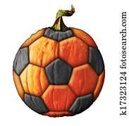 Soccer Ball Pumpkin