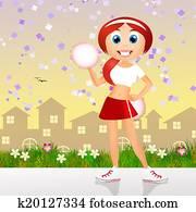 cute happy cheerleader
