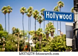 Hollywood sign in LA