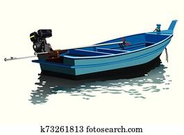 long tail boat vector