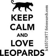 behalten, gelassen, und, liebe, leoparde