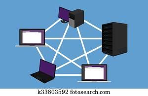 bus, vernetzung, topology, lan, design, networking, hardware, rückgrat, verbundene