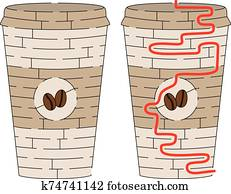 Coffee cup maze
