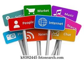 Internet and social media concept