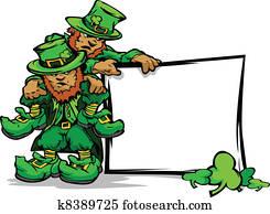 St. Patricks Day Leprechauns Holdin