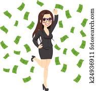 Brunette Rich Successful Business Woman