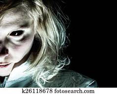 Demon-like Woman with Black Eye