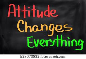 Attitude Changes Everything Concept
