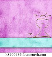 calyx parchment background for first communion girl