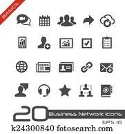 Business Network Icons // Basics