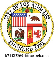 Coat of arms of the city of Los Angeles. California