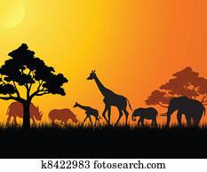 africa animal silhouette