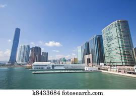 Hong Kong Keuken : Hong kong skyline met toren twee internationale financiën centrum