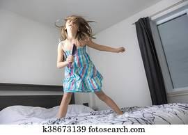 Tiener meisje haar slaapkamer stock foto s en beelden