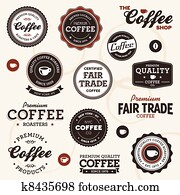 Vintage coffee labels