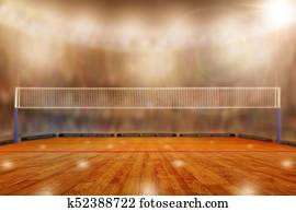 Volleyball Arena With Copy Space