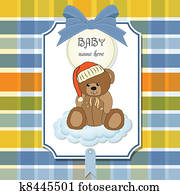 Sleepy Bear Clipart | k8810095 | Fotosearch