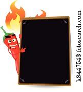 Cartoon Hot Spice Menu