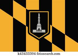 fahne, von, baltimore, maryland, USA., vektor, format