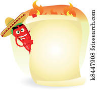Mexican Food Restaurant Spice Banner