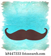 moustache retro background