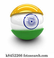 3D - Flag of India