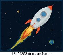 Porno de dessin animé de puissance de fusée