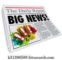 Big News Announcement Headline Newspaper Alert