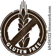 gluten, frei, briefmarke