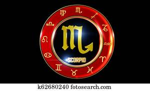 Horoscope Zodiac colourful backdrop