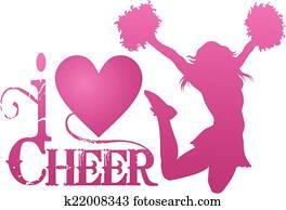 I Love Cheer With Jumping Cheerlead