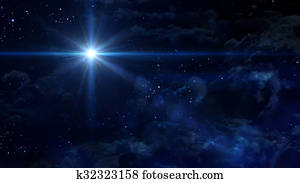 starry night blue star cross planet