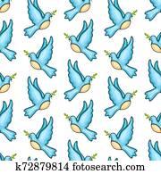 Vector seamless pattern Rosh Hashanah, Shana Tova
