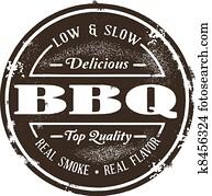 Vintage Style BBQ Stamp