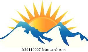 sonnenschein, bergen, logo