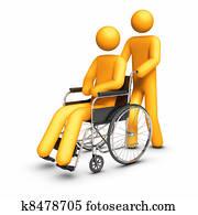 Wheelchair - Helping hand