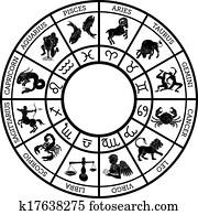 Zodiac sign horoscope icons