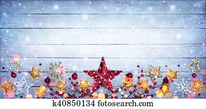 Christmas Border - Stars Decoration