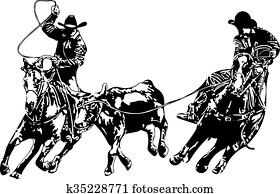 Cowboy Team Ropers
