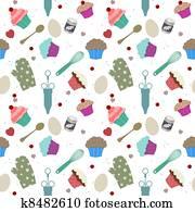 Seamless cupcakes