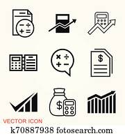 Accounting vector icon. Business and financial symbol