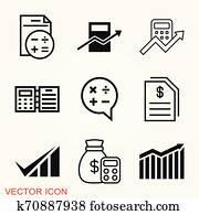 buchhhaltung, vektor, icon., geschaefts, und, finanziell, symbol