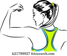 fitness woman illustra