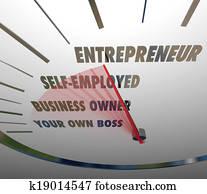 Entrepreneur Speedometer Reach New Level Business Owner Words