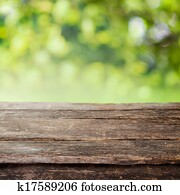 Rustic wooden country fence plank or table top