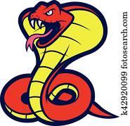 Cobra snake mascot