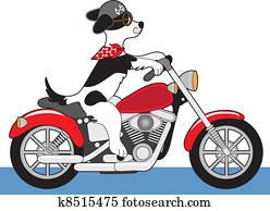 Dog Motorcycle