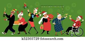 Christmas at retirement community